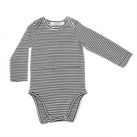 30%Off! MINGO.◇Bodysuit B/W Stripes (2-6m, 6-12m, 1-2y)