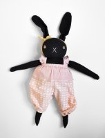 Polka Dot Club◇ Large Black Rabbit (Sophia)