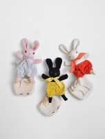 Polka Dot Club◇Baby Rabbit and Backpack (Muted Pink, Black, Cream)