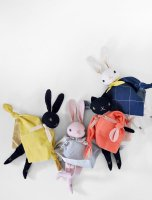 Polka Dot Club◇ Cuddling Rabbit (Black, Cream)
