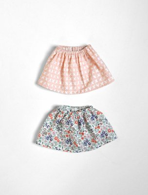 polka dot club simple skirt muted pink x liberty floral