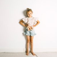 50%Off!! yellowpelota◇Peter Pan Blouse, Grey Sand (2Y,3Y,4Y,6Y,8Y,10Y)