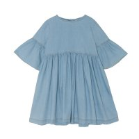 <img class='new_mark_img1' src='//img.shop-pro.jp/img/new/icons14.gif' style='border:none;display:inline;margin:0px;padding:0px;width:auto;' />yellowpelota◇Flow Dress, Stone Washed Denim (2Y,3Y,4Y,6Y,8Y,10Y)