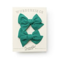 Wunderkin CO.◇Mini Pinwheel Pigtail Set // Grasshopper