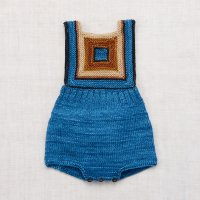 Misha and Puff◇Log Cabin Romper◇Cobalt