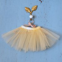 Elselil◇Doll tulle skirt (Champagne)