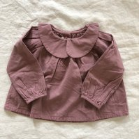 yellowpelota◇Sweet Blouse, Aubergine (12m,18m,2Y,3Y,4Y)