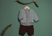 50%Off!! Les Lutins◇Tom/ blue check (12m,18m,24m)