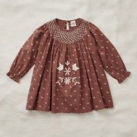Apolina◇ 'SISSY' DRESS-PRAIRIE PRINT CHOCOLATE (S,M,L)