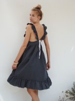 30%Off!! liilu◇pinafore dress, antra blue