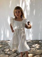 <img class='new_mark_img1' src='//img.shop-pro.jp/img/new/icons14.gif' style='border:none;display:inline;margin:0px;padding:0px;width:auto;' />liilu◇Lina dress, sandy stripes (1-2y,2-4y,4-6y,6-8y,8-10y,10-12y)