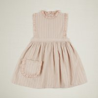 Apolina◇ 'IDA' DRESS-PINK TEA STRIPE (S,M,L)