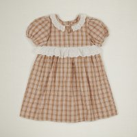 Apolina◇'HATTIE' DRESS-HAY CHECK (S,M,L)
