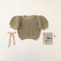 <img class='new_mark_img1' src='//img.shop-pro.jp/img/new/icons14.gif' style='border:none;display:inline;margin:0px;padding:0px;width:auto;' />SOOR PLOOM◇ Mimi Knit Top, Pond (18-24m,2-3y,4-5y,6-7y,8-9y)