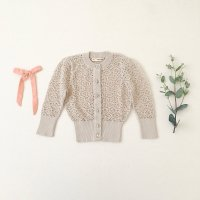 <img class='new_mark_img1' src='//img.shop-pro.jp/img/new/icons14.gif' style='border:none;display:inline;margin:0px;padding:0px;width:auto;' />SOOR PLOOM◇ Rose Cardigan, Milk (18-24m,2-3y,4-5y,6-7y,8-9y)