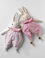 Polka Dot Club◇ Medium Rabbits in Ruffles & Bloomers (Cream, Peach)
