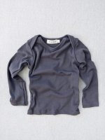 mabo◇ organic cotton lap tee - graphite