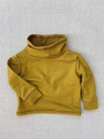 mabo◇ cowl neck organic french terry sweatshirt in chartreuse