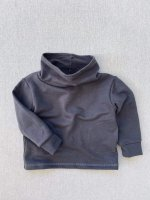 mabo◇ cowl neck organic french terry sweatshirt in graphite
