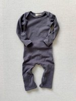 mabo◇ organic cotton long john - graphite