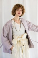 <img class='new_mark_img1' src='https://img.shop-pro.jp/img/new/icons14.gif' style='border:none;display:inline;margin:0px;padding:0px;width:auto;' />KiiRA◇LR LINER JACKET (IVORY, LAVENDER, ORANGE BEIGE)