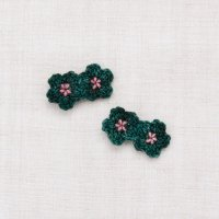 <img class='new_mark_img1' src='https://img.shop-pro.jp/img/new/icons14.gif' style='border:none;display:inline;margin:0px;padding:0px;width:auto;' />Misha and Puff◇Mini Crochet Flower Clip Set◇Laurel/Antique Rose