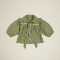 <img class='new_mark_img1' src='https://img.shop-pro.jp/img/new/icons14.gif' style='border:none;display:inline;margin:0px;padding:0px;width:auto;' />Apolina◇ 'SALLY' BLOUSE - PISTACHIO (S,M,L)