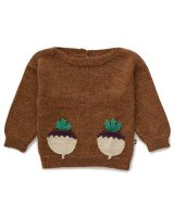 40%Off! Oeuf◇Boatneck Sweater, Hazelnut/Turnip (18/24M, 2/3Y, 4/5Y, 6/7Y)