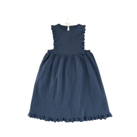 <img class='new_mark_img1' src='https://img.shop-pro.jp/img/new/icons14.gif' style='border:none;display:inline;margin:0px;padding:0px;width:auto;' />LiiLU◇ Pipa Apron, Ocean Blue (2y,4y,6y,8y,10y)