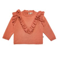 <img class='new_mark_img1' src='https://img.shop-pro.jp/img/new/icons14.gif' style='border:none;display:inline;margin:0px;padding:0px;width:auto;' />Oeuf◇Frou Frou Sweater, Melon (18/24M, 2/3Y, 4/5Y, 6/7Y)