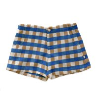 <img class='new_mark_img1' src='https://img.shop-pro.jp/img/new/icons14.gif' style='border:none;display:inline;margin:0px;padding:0px;width:auto;' />Oeuf◇Linen Shorts, Sky Blue (18-24M,2/3Y, 4/5Y, 6/7Y)