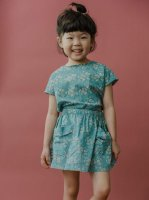 mabo◇ edith blouse in teal floral cotton