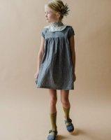 mabo◇ jane dress in indigo slub yarn dye