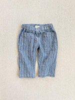mabo◇ james pant in chambray/cream stripe