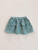 mabo◇ frances skirt in basil crinkle gingham