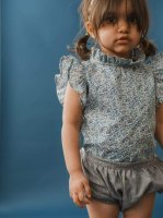 mabo◇ loulou blouse flutter sleeve made with katie & millie liberty fabric
