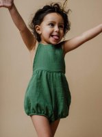 40%Off!! mabo◇ mabel playsuit in basil cotton gauze