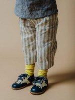mabo◇ maude culotte in cream/navy mattress stripe linen