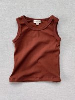 <img class='new_mark_img1' src='https://img.shop-pro.jp/img/new/icons14.gif' style='border:none;display:inline;margin:0px;padding:0px;width:auto;' />mabo◇ organic cotton tank top - chestnut