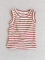 <img class='new_mark_img1' src='https://img.shop-pro.jp/img/new/icons14.gif' style='border:none;display:inline;margin:0px;padding:0px;width:auto;' />mabo◇ organic cotton tank top - natural/scarlet stripe