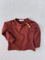 <img class='new_mark_img1' src='https://img.shop-pro.jp/img/new/icons14.gif' style='border:none;display:inline;margin:0px;padding:0px;width:auto;' />mabo◇ organic french terry sweatshirt - chestnut