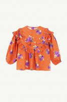 <img class='new_mark_img1' src='https://img.shop-pro.jp/img/new/icons14.gif' style='border:none;display:inline;margin:0px;padding:0px;width:auto;' />yellowpelota◇ Folklore blouse, Orange (4Y,6Y,8Y)