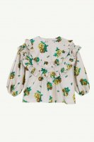 <img class='new_mark_img1' src='https://img.shop-pro.jp/img/new/icons14.gif' style='border:none;display:inline;margin:0px;padding:0px;width:auto;' />yellowpelota◇ Folklore blouse, Natural (4Y,6Y,8Y)