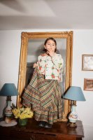 <img class='new_mark_img1' src='https://img.shop-pro.jp/img/new/icons14.gif' style='border:none;display:inline;margin:0px;padding:0px;width:auto;' />yellowpelota◇ Woodcarving skirt (4Y,6Y,8Y,10Y,12Y,14Y)