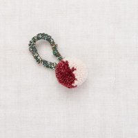 <img class='new_mark_img1' src='https://img.shop-pro.jp/img/new/icons14.gif' style='border:none;display:inline;margin:0px;padding:0px;width:auto;' />Misha and Puff◇ Pom Pom Hair Tie, Cranberry