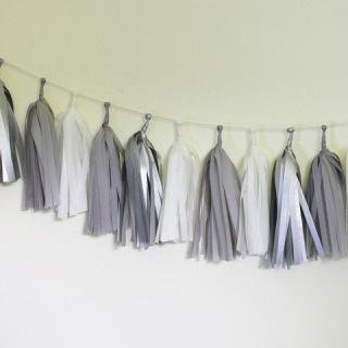Tissue Paper Tassel Garland Kit (Sterling )