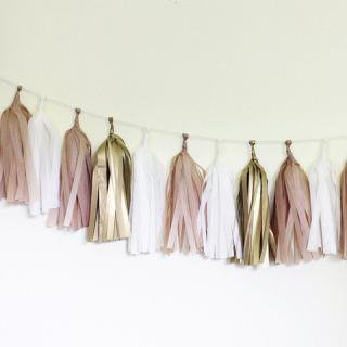 Tissue Paper Tassel Garland Kit (Golden)