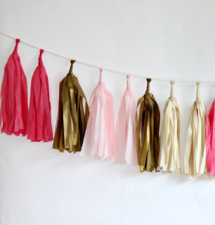 Tissue Paper Tassel Garland Kit (Sweetheart)