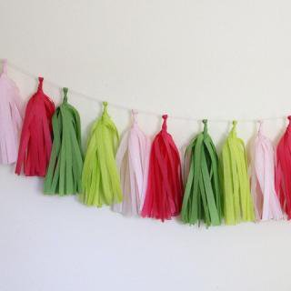 <img class='new_mark_img1' src='//img.shop-pro.jp/img/new/icons16.gif' style='border:none;display:inline;margin:0px;padding:0px;width:auto;' />75%Off!! Tissue Paper Tassel Garland Kit (Preppy)