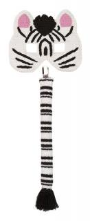 50%Off!! la de dah kids☆Mask and Tail Set (Zebra)